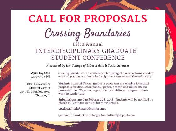 LAS Grad Conference 2018 - Call for Proposals (landscape)